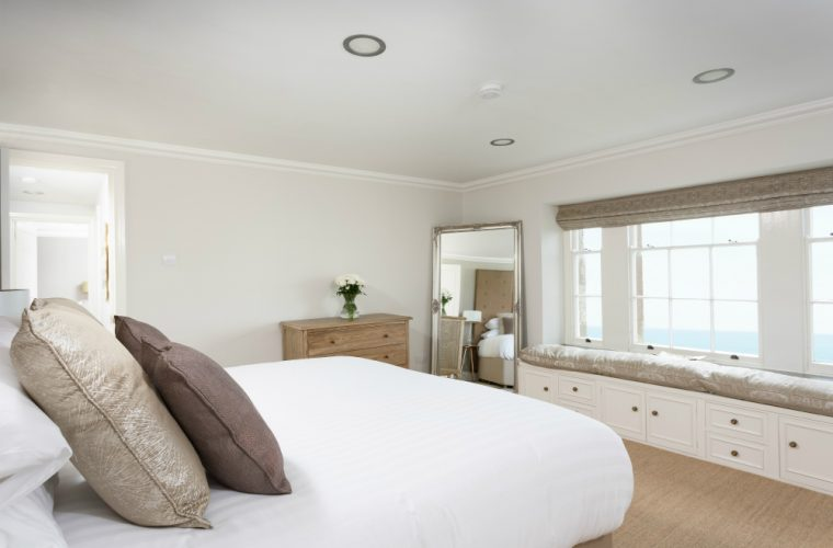 The Tower Guest Bedroom with views over St Michael's Mount