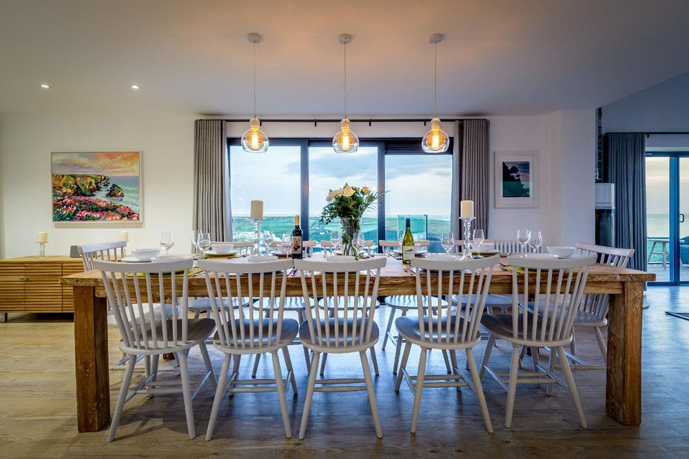 Coastal dining space