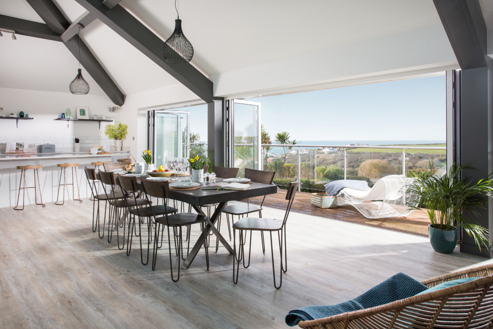 Cornish Gems holiday home overlooking the Cornish coastline
