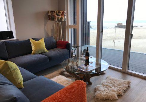 Coastal living room design