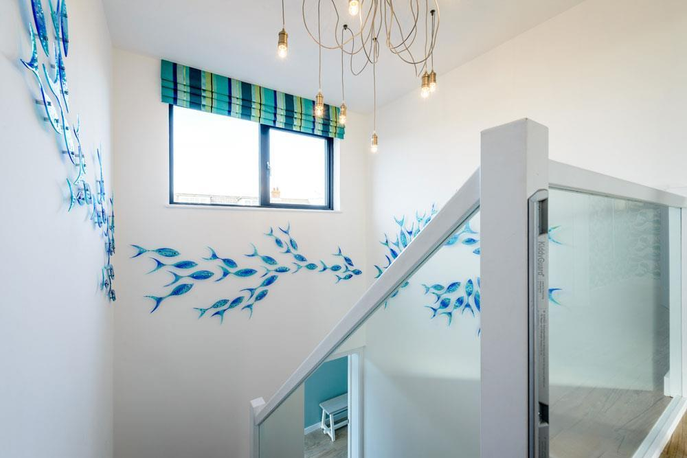Glass shoal installation by Jo Downs