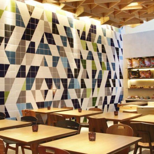 Handmade Persian Glazes Tile wall installation