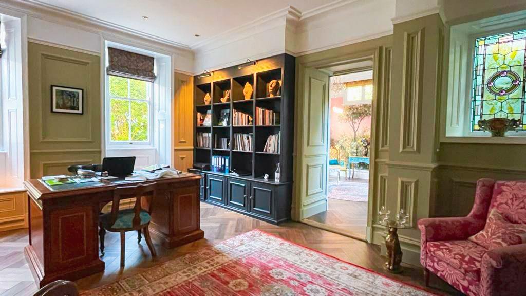 Library interior design alterations at Penarwyn House