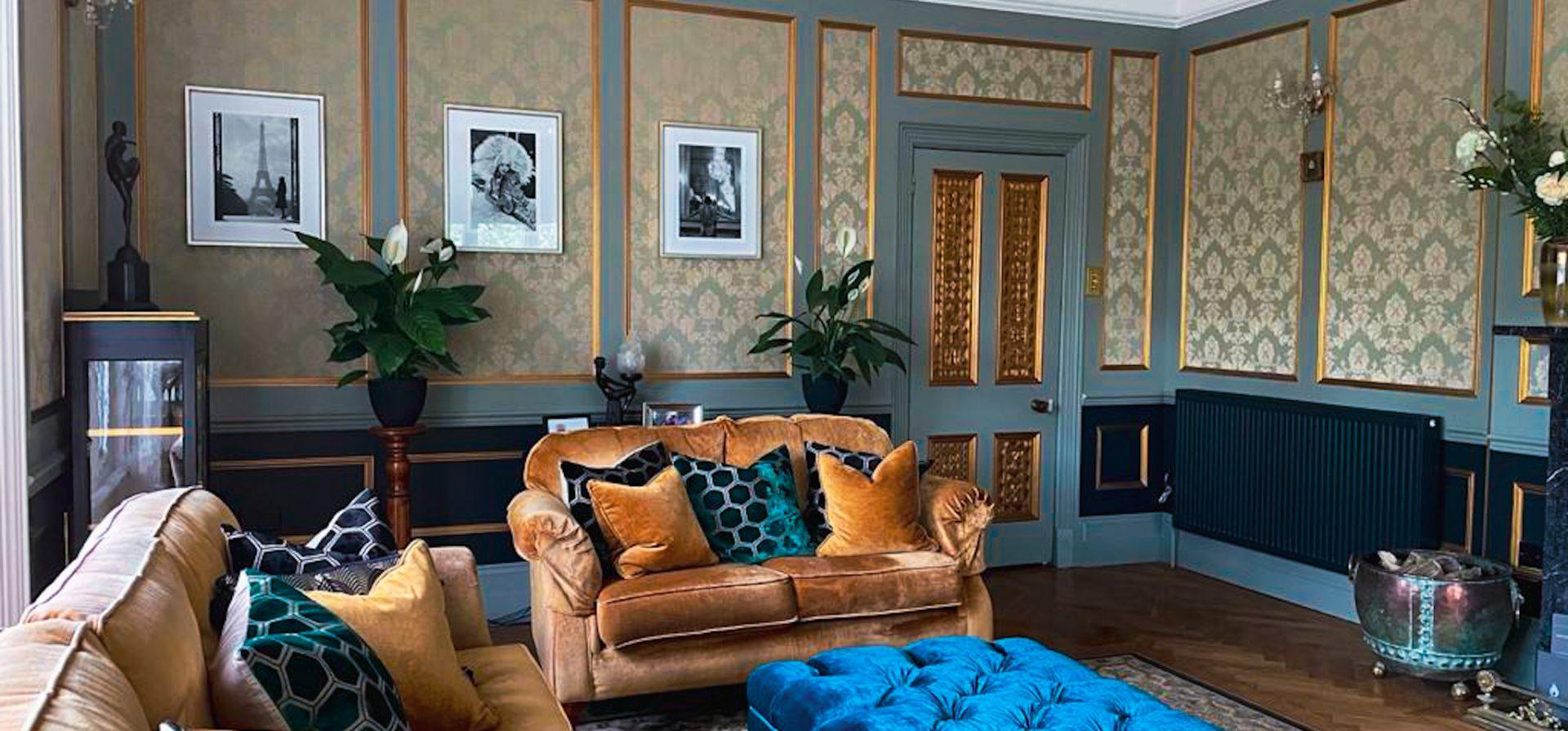 Living Room modernisation Penarwyn House Cornwall