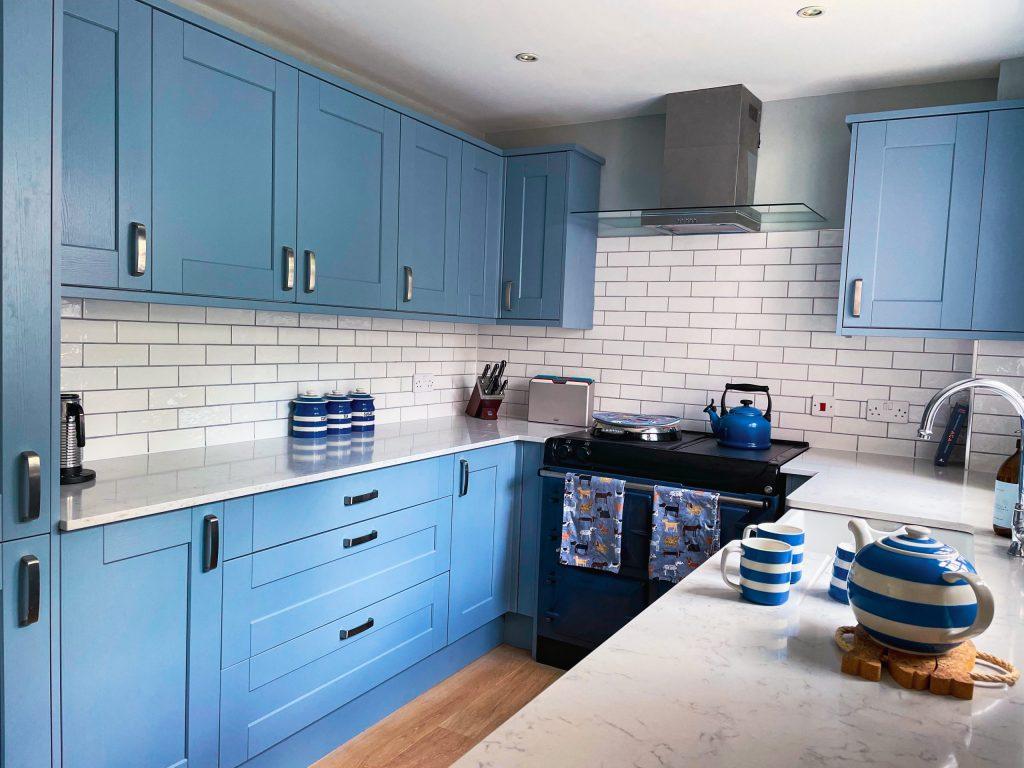 Sea Pink Coastal Cottage Kitchen