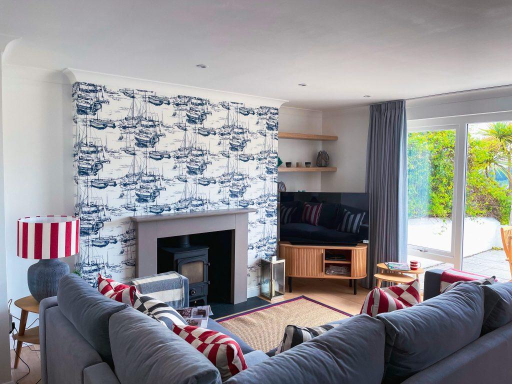Sea Pink Open Plan Coastal Cottage Interiors