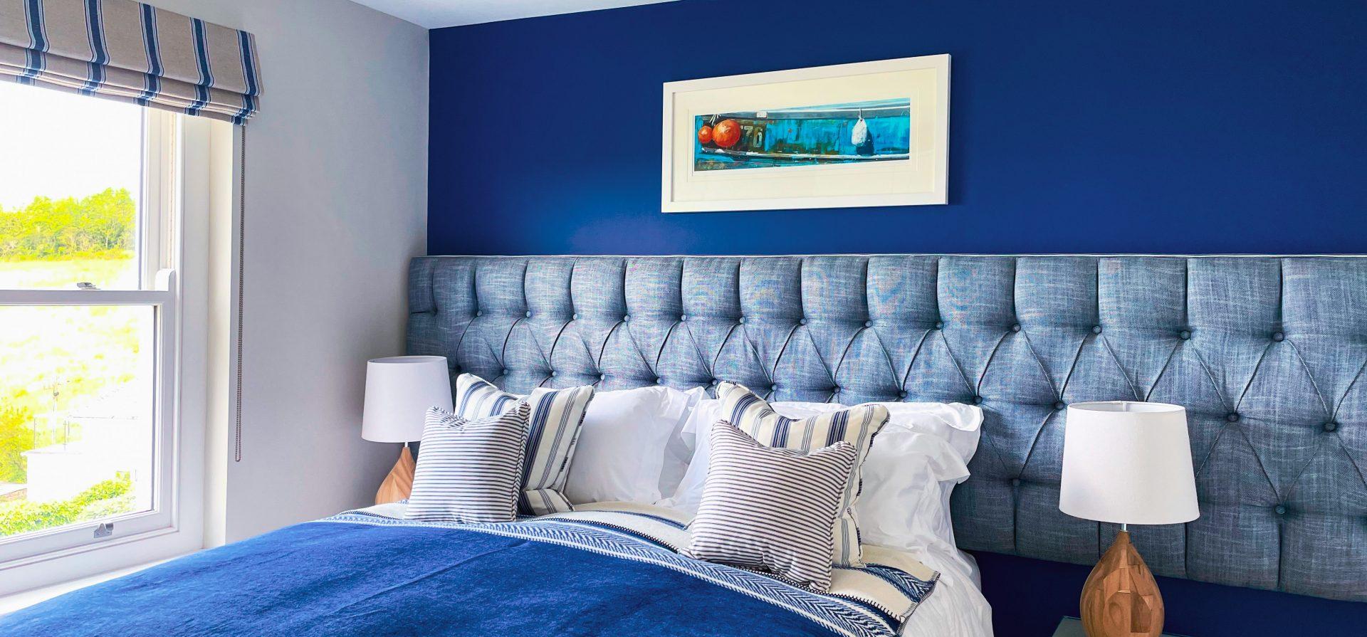 Sea Pink Coastal Master Bedroom Scheme